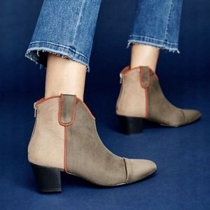 New Anthropologie VANESSA WU COLORBLOCK Boots